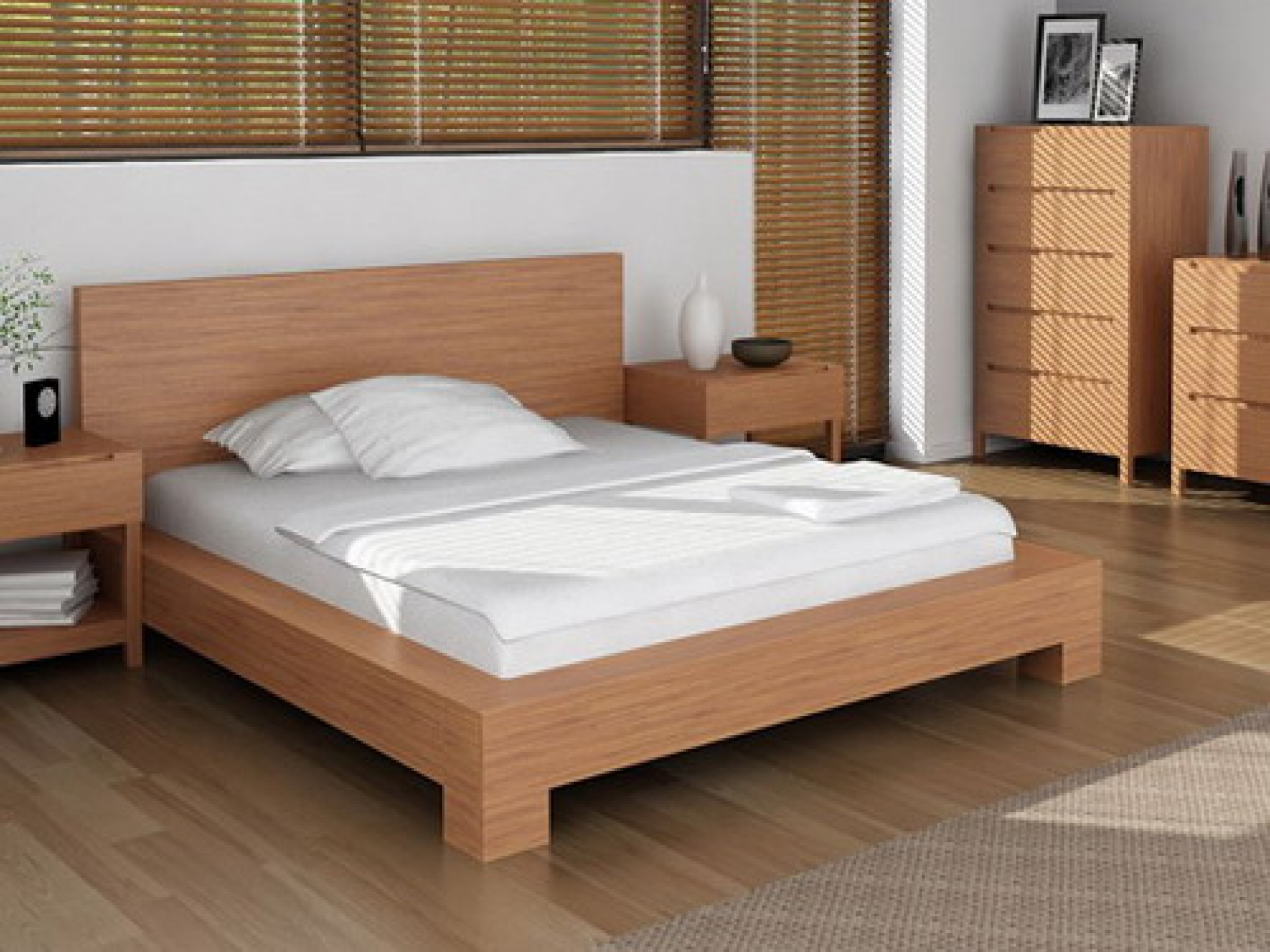 Cheap Wooden Bed Frames Simple Wood Bed Frame Ideas Homesfeed