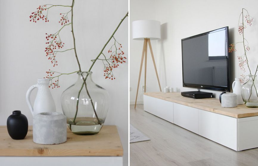 Ikea White Tv Stand Sweet Couple For Minimalism Homesfeed