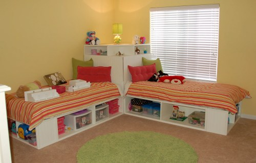 Medium Of Twin Bed With Storage