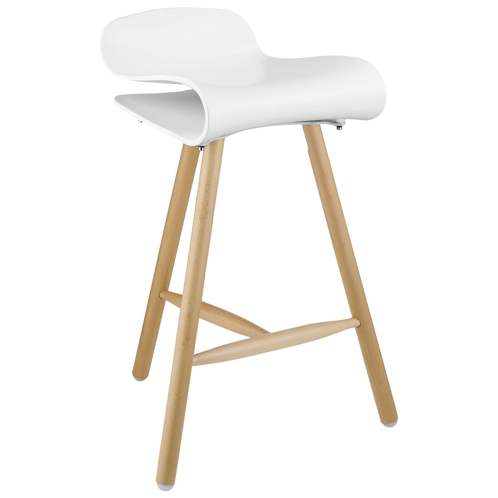 Modern White Bar Stools White Wood Bar Stools Providing Enjoyment In Your Kitchen