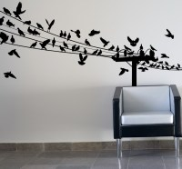 Birds on Wire Wall Art Optimize Every Inch of Interior ...