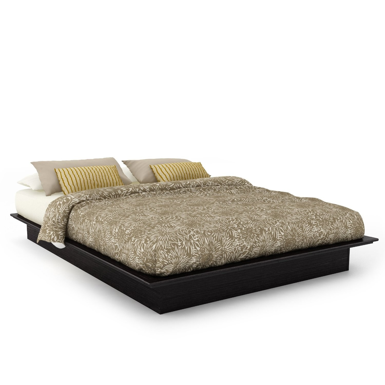 Bed Low Profile Low Profile Bed Frame Queen Homesfeed