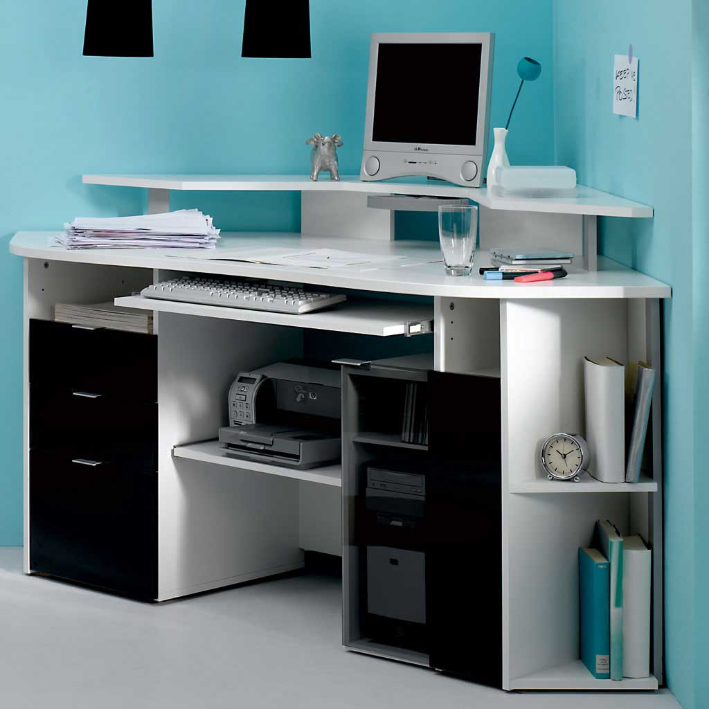 Apartment Computer Desk 4 Recommended Desks With Printer Storage Homesfeed