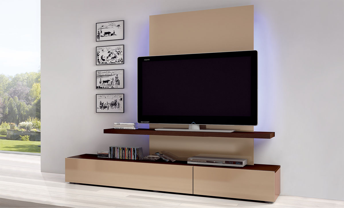 Tv Sideboard Modern Flat Screen Tv Wall Cabinets Offering Space-saving ...