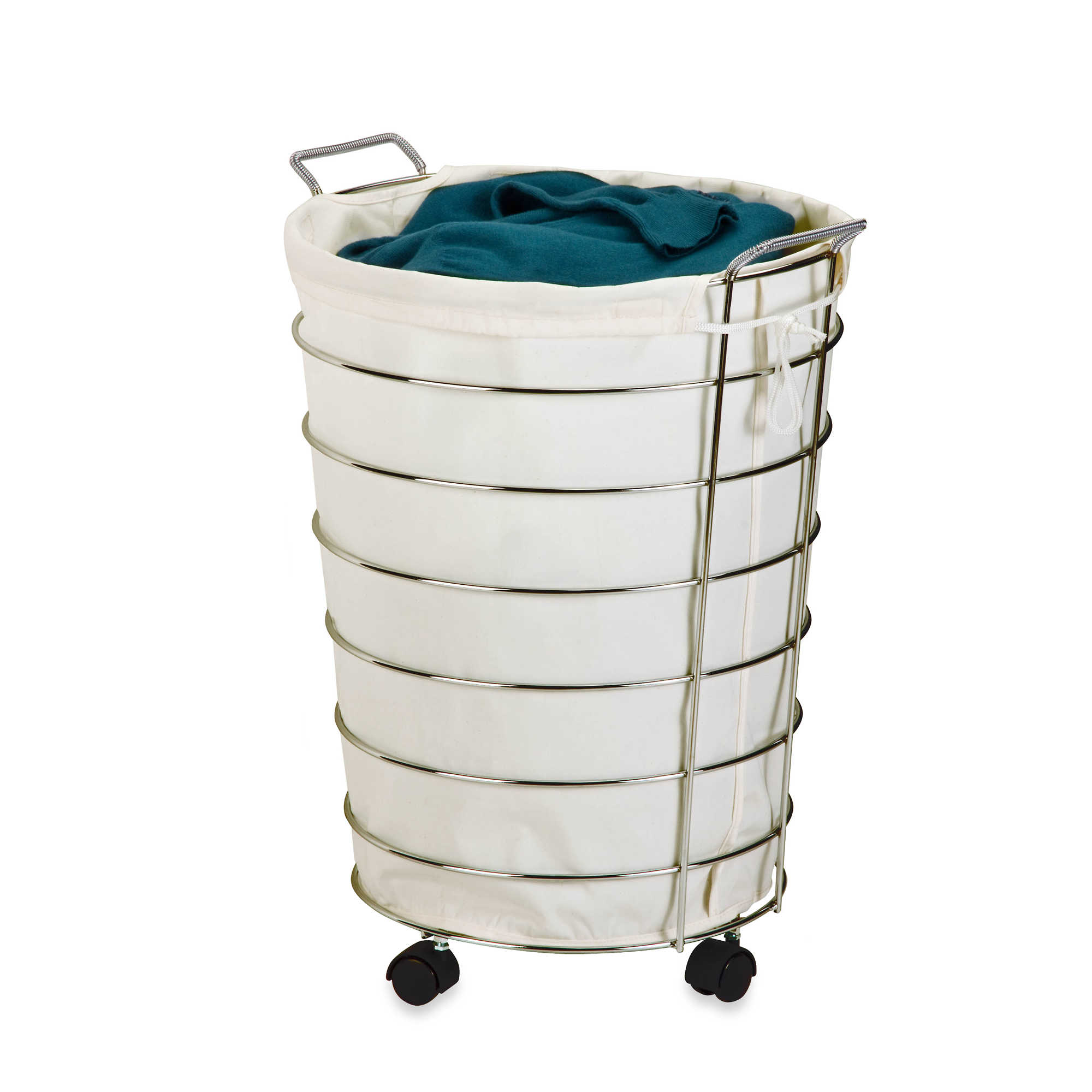Chrome Laundry Basket An Easy Solution To Carry Out The Heavy Laundry In Your