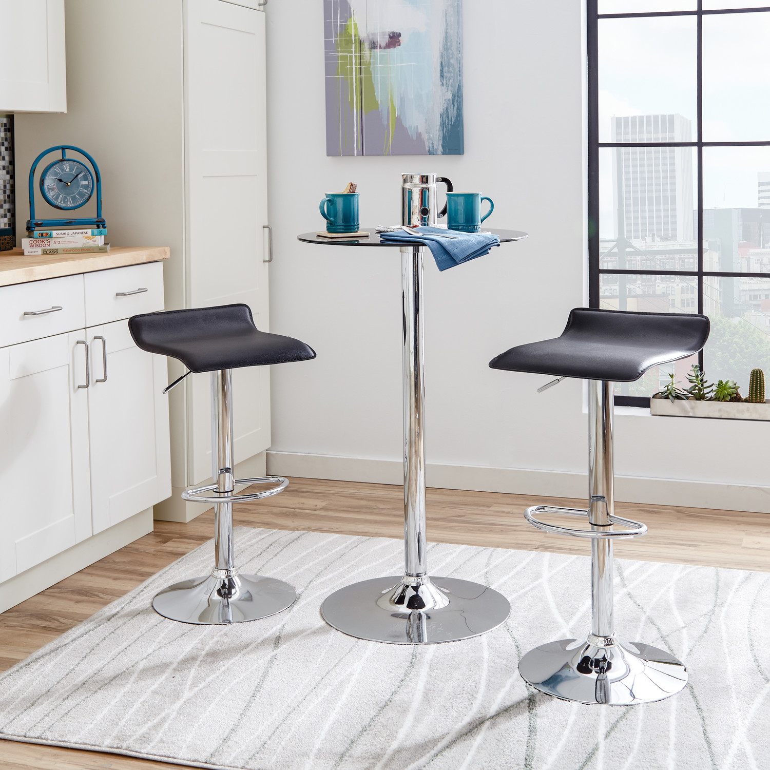 Modern Counter Height Stools 4 Contemporary Backless Counter Height Bar Stools For