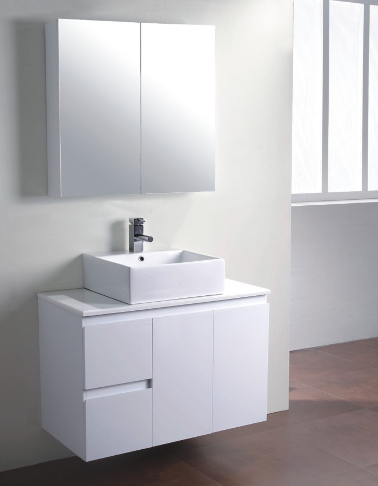 Bathroom sink cabinets white - Sink Cabinet White Shelf
