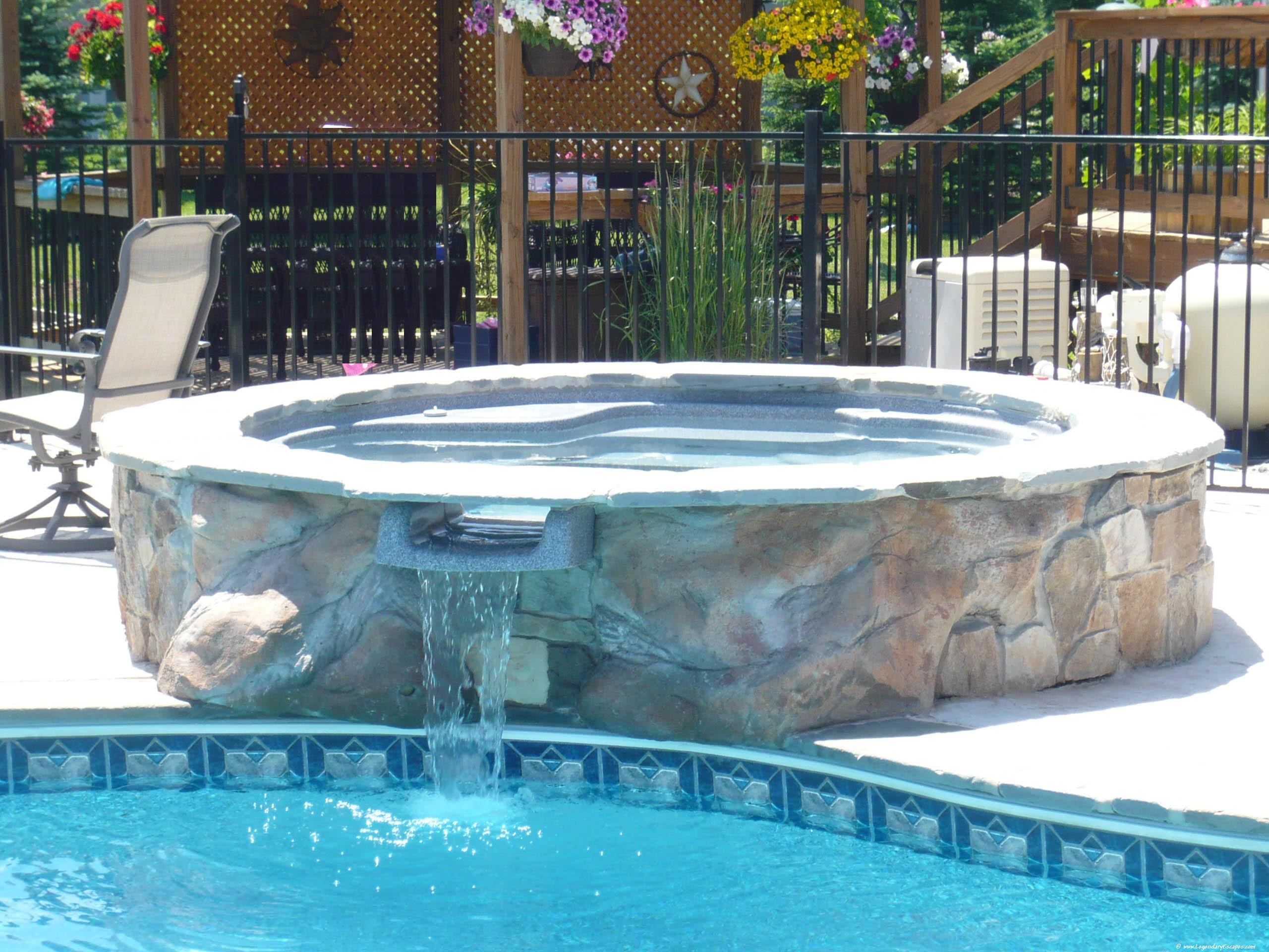 Jacuzzi Pool Gspa Spa In Swimming Pool Homesfeed