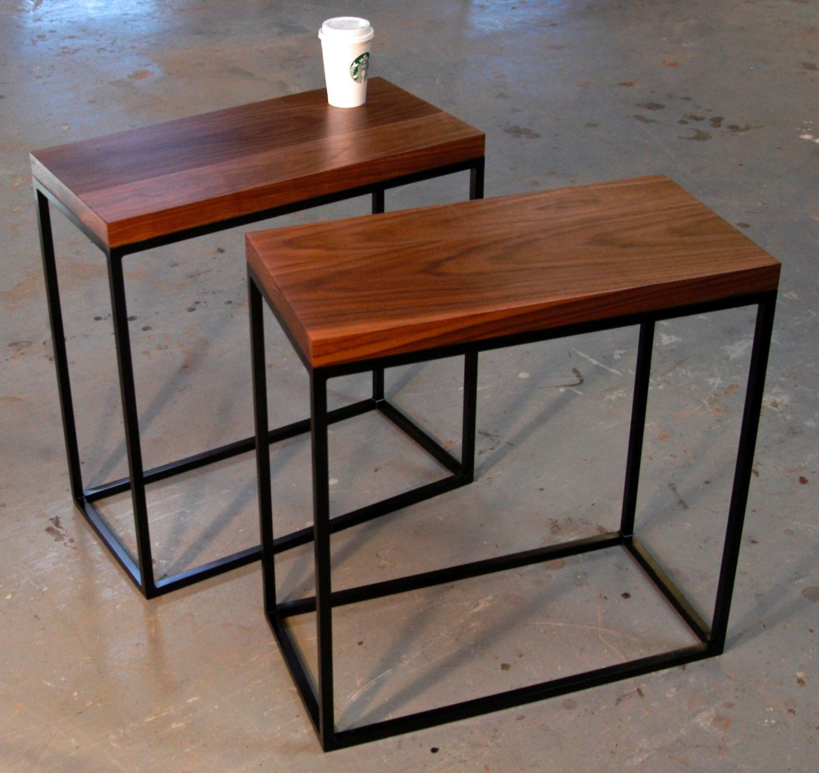 Small Industrial Side Table Skinny Side Table Appears To Save The Space Without