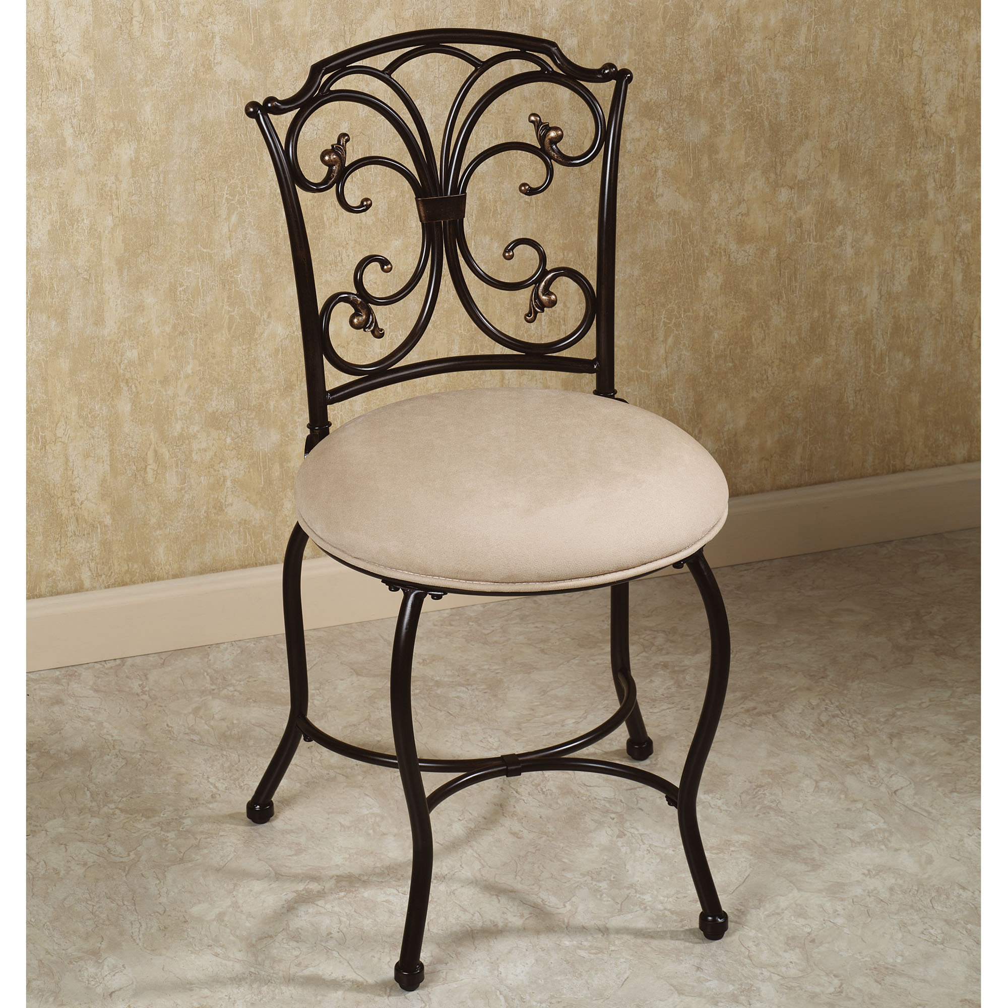 Vanity Seat With Back Vanity Chair With Back Design Options Homesfeed