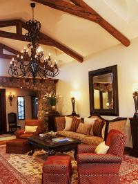 Living Room Spanish Style Design