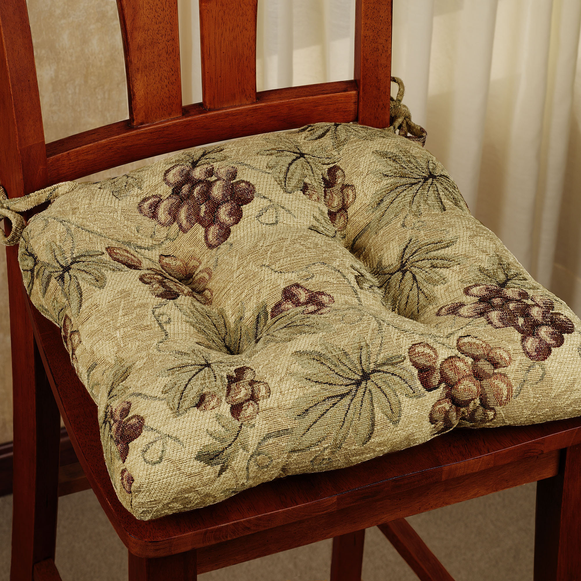 kitchen chair cushions kitchen chair Kitchen Chair Cushions Grapes Design Style