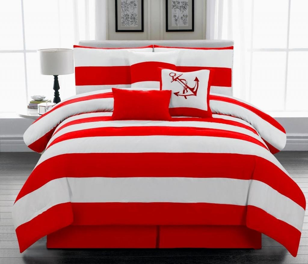 Parure De Couette Blanche Red And White Comforter Ideas | Homesfeed