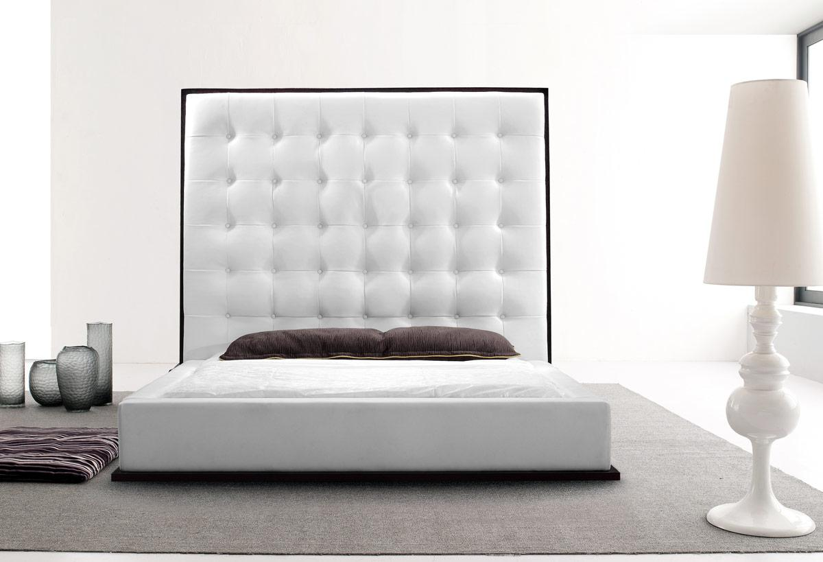White Beds White Leather Headboard Queen Homesfeed