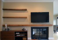 Floating Media Shelf Design | HomesFeed