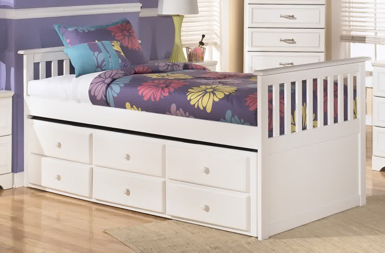 White Trundle Bed Trundle Beds With Storage Designs Homesfeed