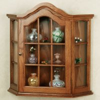 large wall mounted curio cabinets