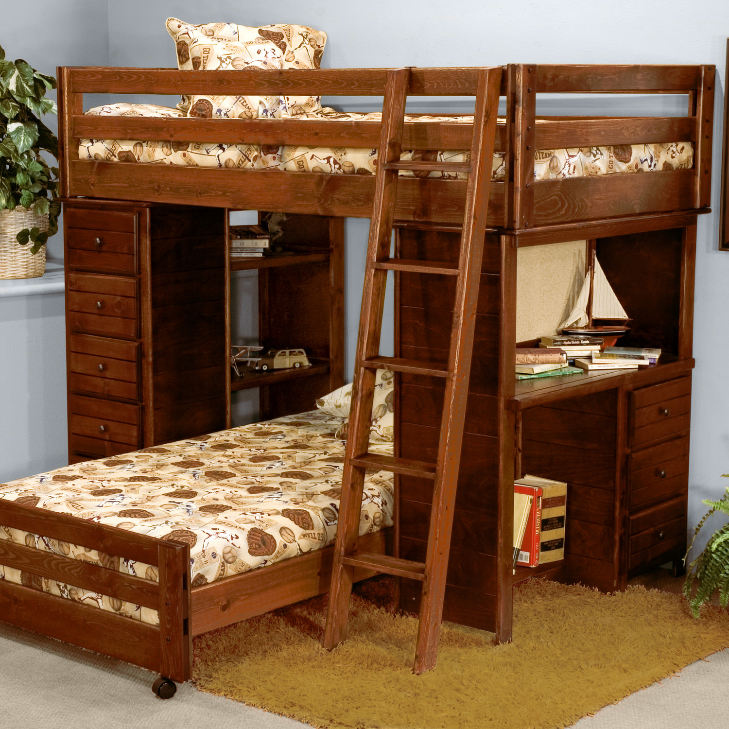 Double Bunk Bed With Desk Bunk Bed With Desk For Your Kids Homesfeed
