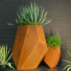 Small Crop Of Corten Steel Planters