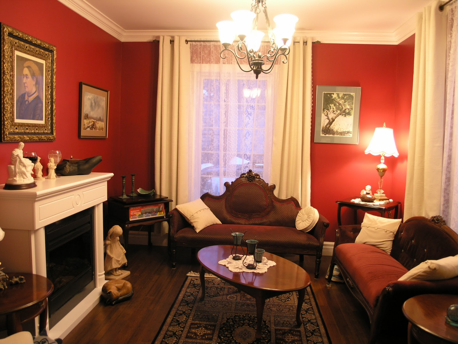 Red Wall Living Room What Color Curtains With Dark Red Walls Curtain