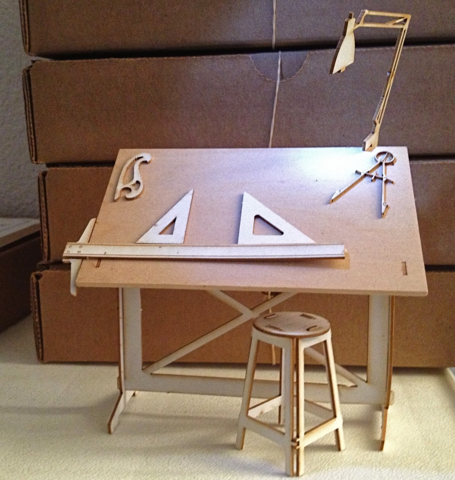 download wooden drafting table