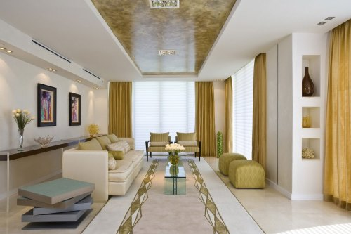 Medium Of Decorate Long Living Room