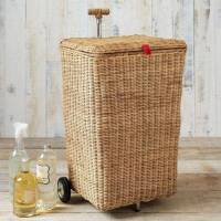 Hamper with Wheels for Easy Moving Linen | HomesFeed