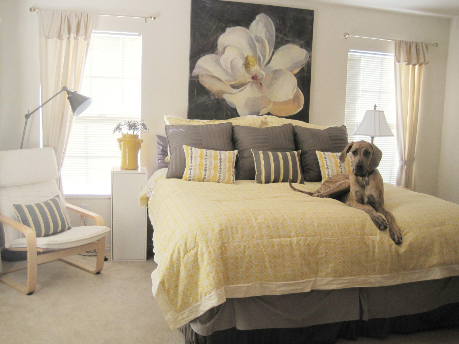 Yellow And Grey Decor Yellow And Gray Bedroom Decor Neutral Meets Cheerful