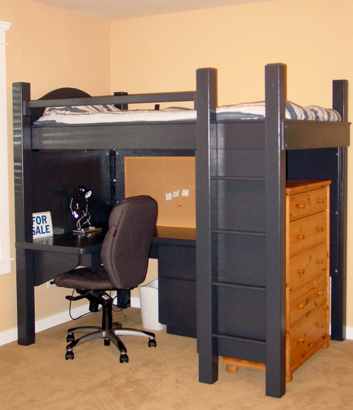 Black Loft Bed Black Loft Bed With Desk Style Meets Function Homesfeed