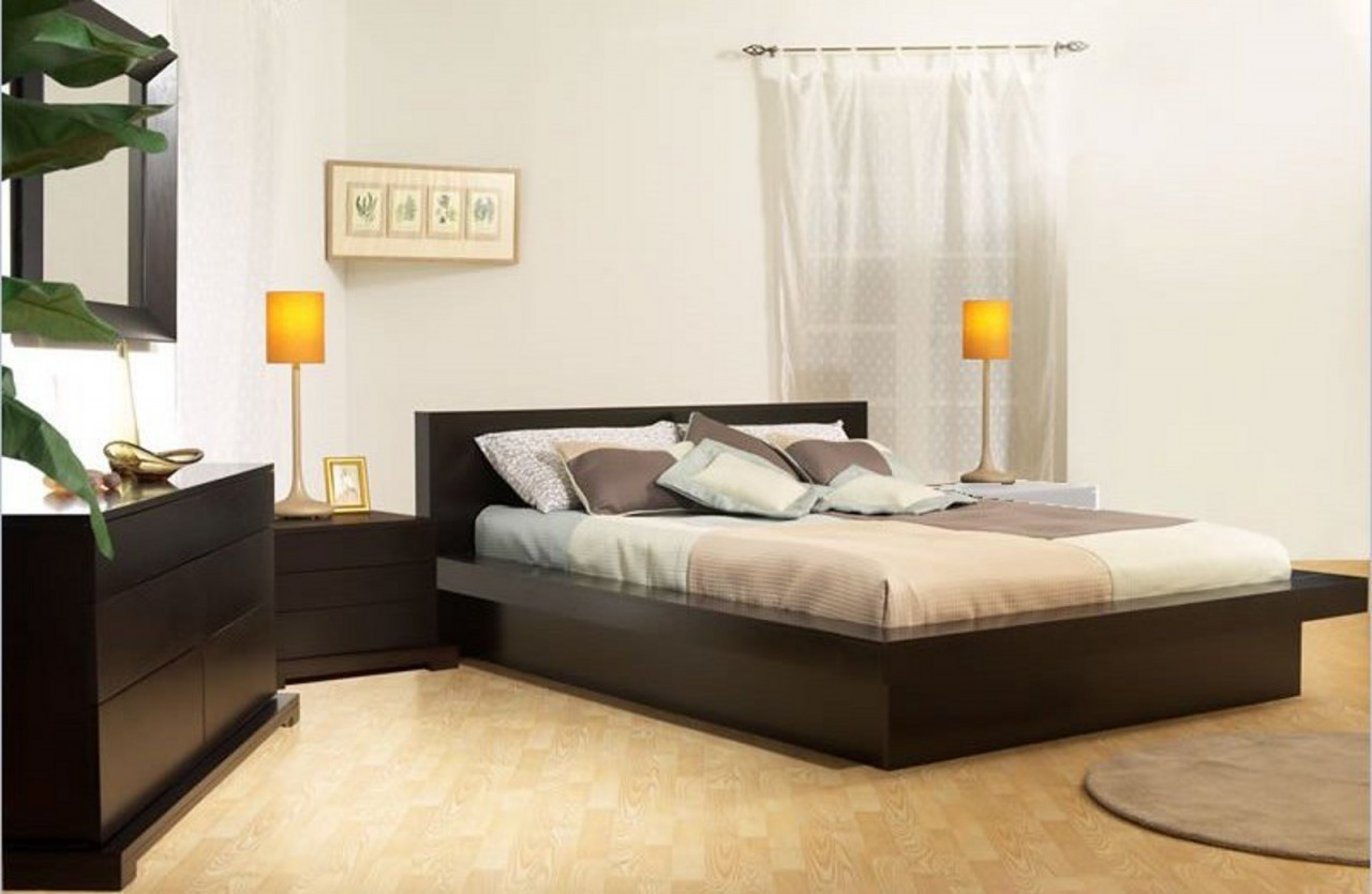 Modern Bed Stand Low Profile Platform Bed Frame Displaying Interesting