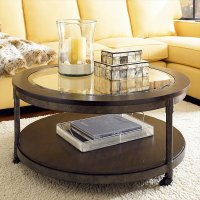 The Round Coffee Tables with Storage  the Simple and ...