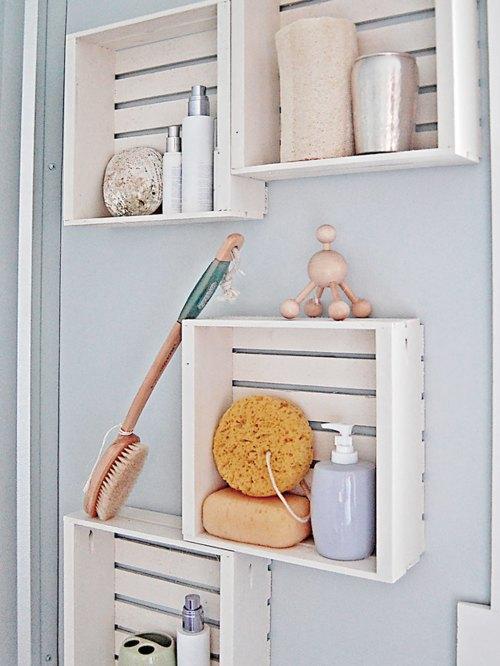 Medium Of Wooden Wall Shelves For Bathroom