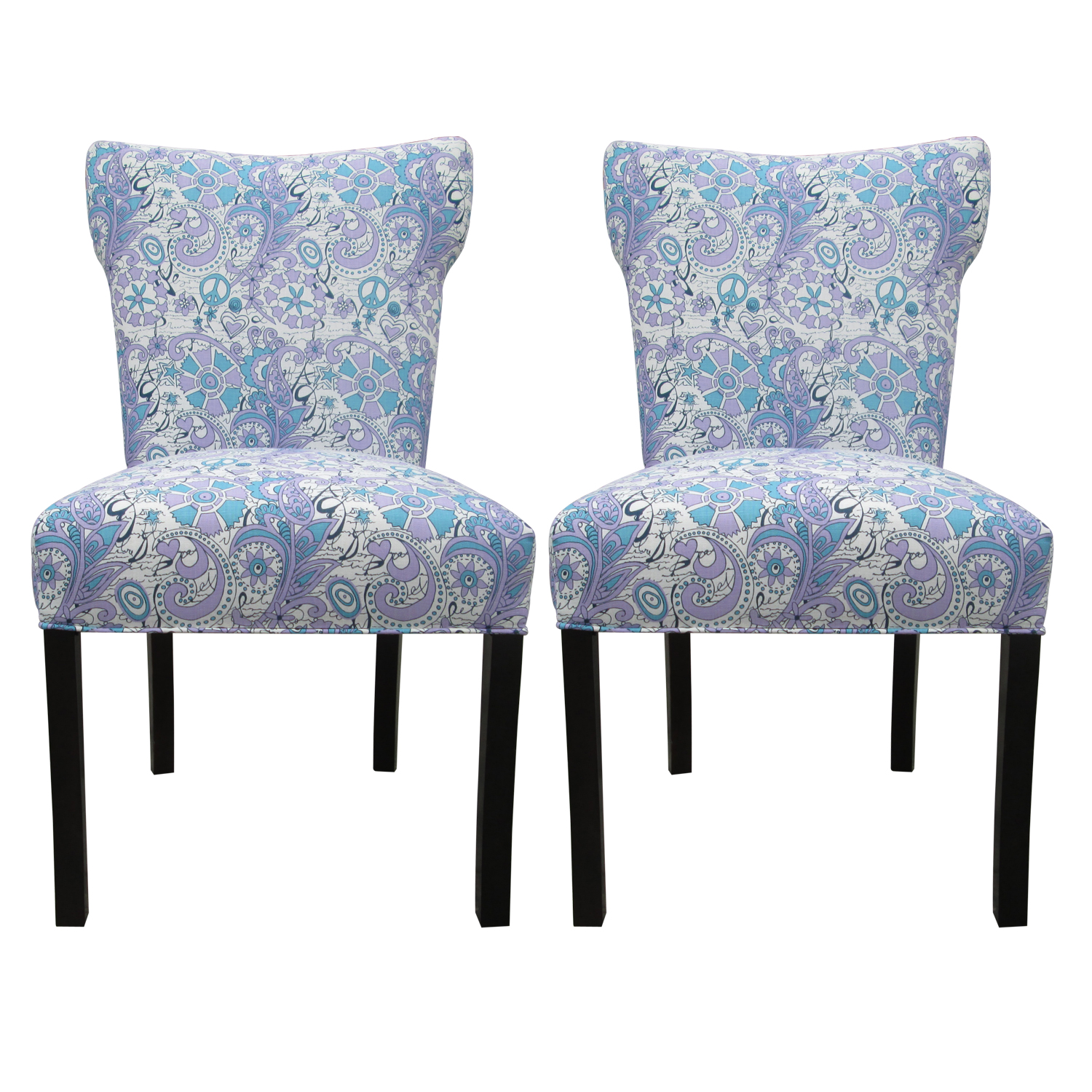 Dining Room Chair Patterns Blue Upholstered Dining Chairs Homesfeed