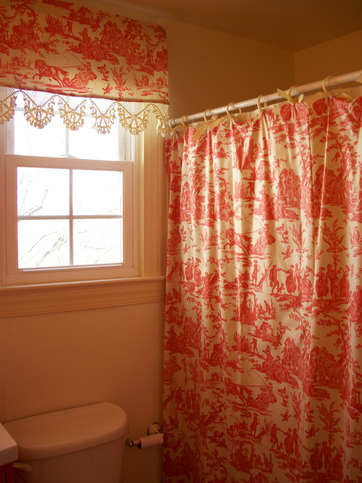 Orange And Red Curtains Red Toile Curtains Decorating Ideas Homesfeed