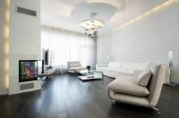 Living Room with Dark Wood Floors | HomesFeed