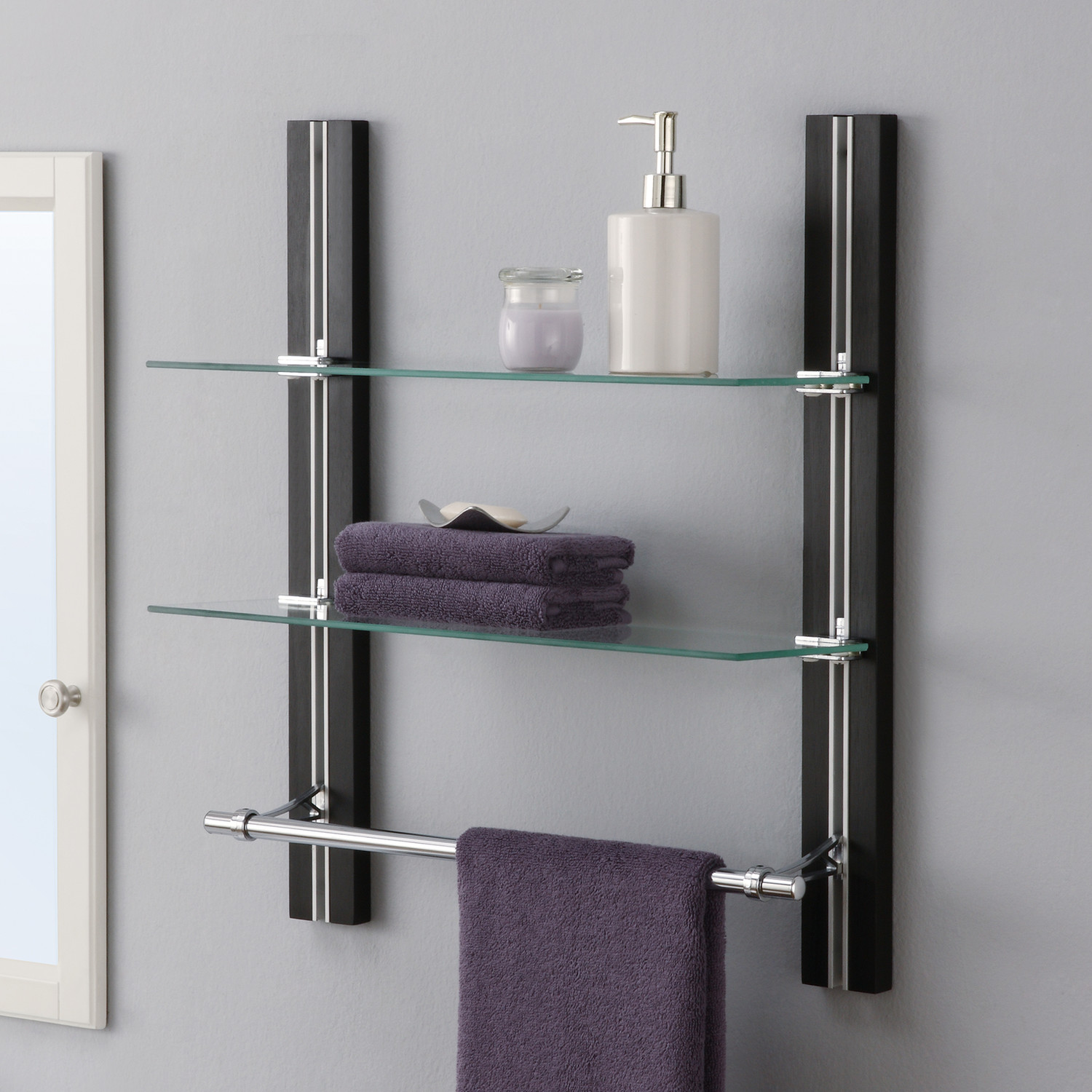 Bathroom Towel Shelf Complete Your Bathroom With Storage For Towel Homesfeed