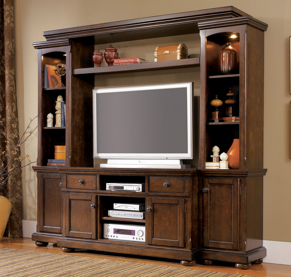 Entertainment Centers Cherry Wood Entertainment Center | Homesfeed
