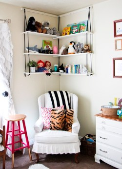 Small Of White Hanging Book Shelf