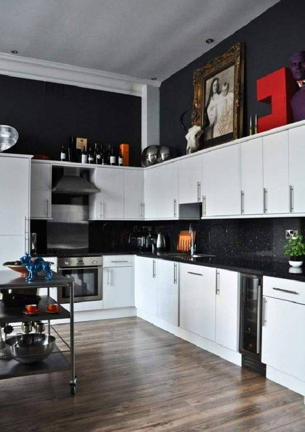 Fullsize Of Black Kitchen Decor