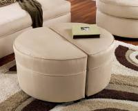 Small Round Ottoman Giving Extra Update in Your Home Decor ...