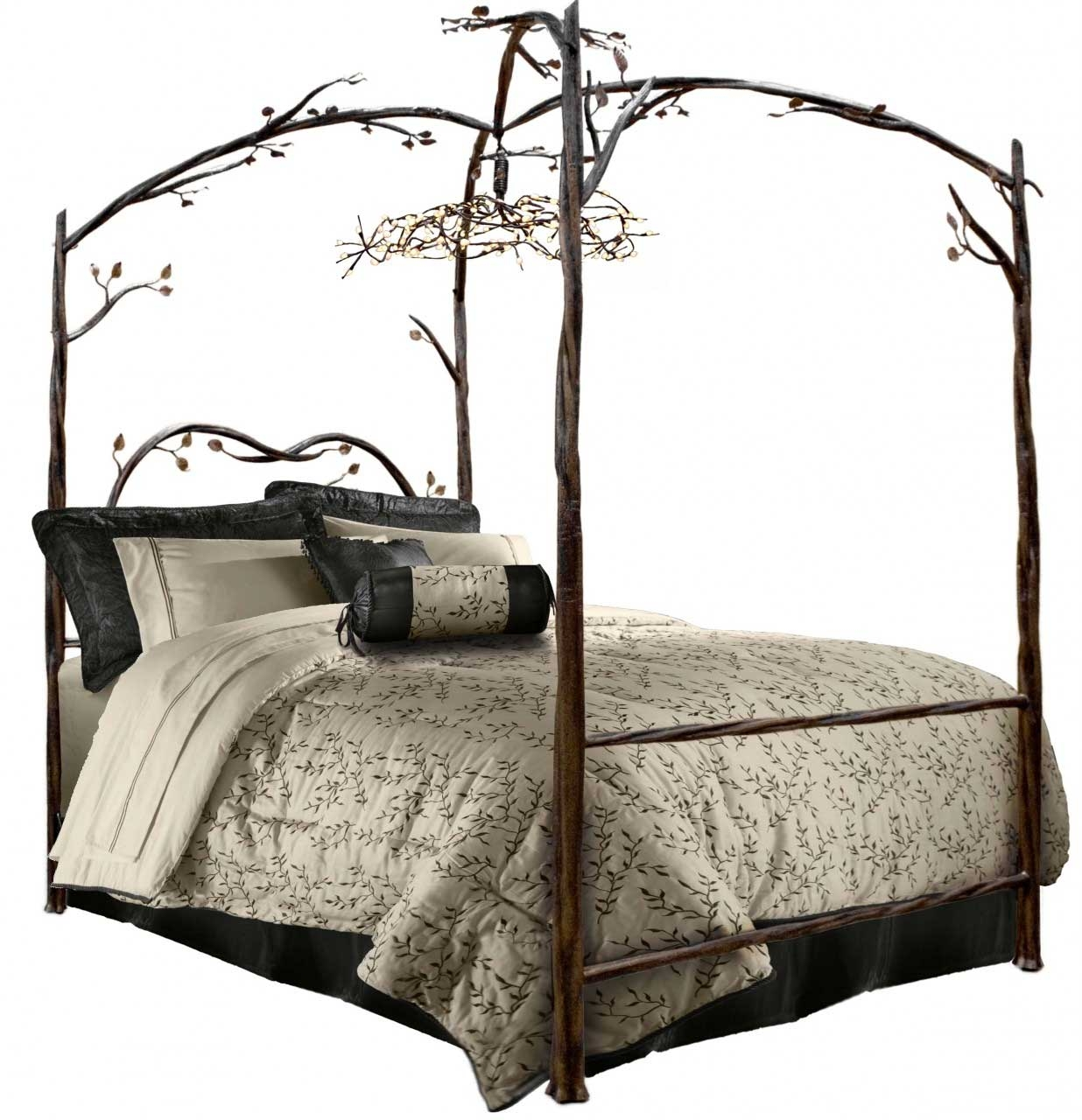 Black Four Post Bed Enjoy The Romantic Bedroom With An Iron Canopy Bed Frame