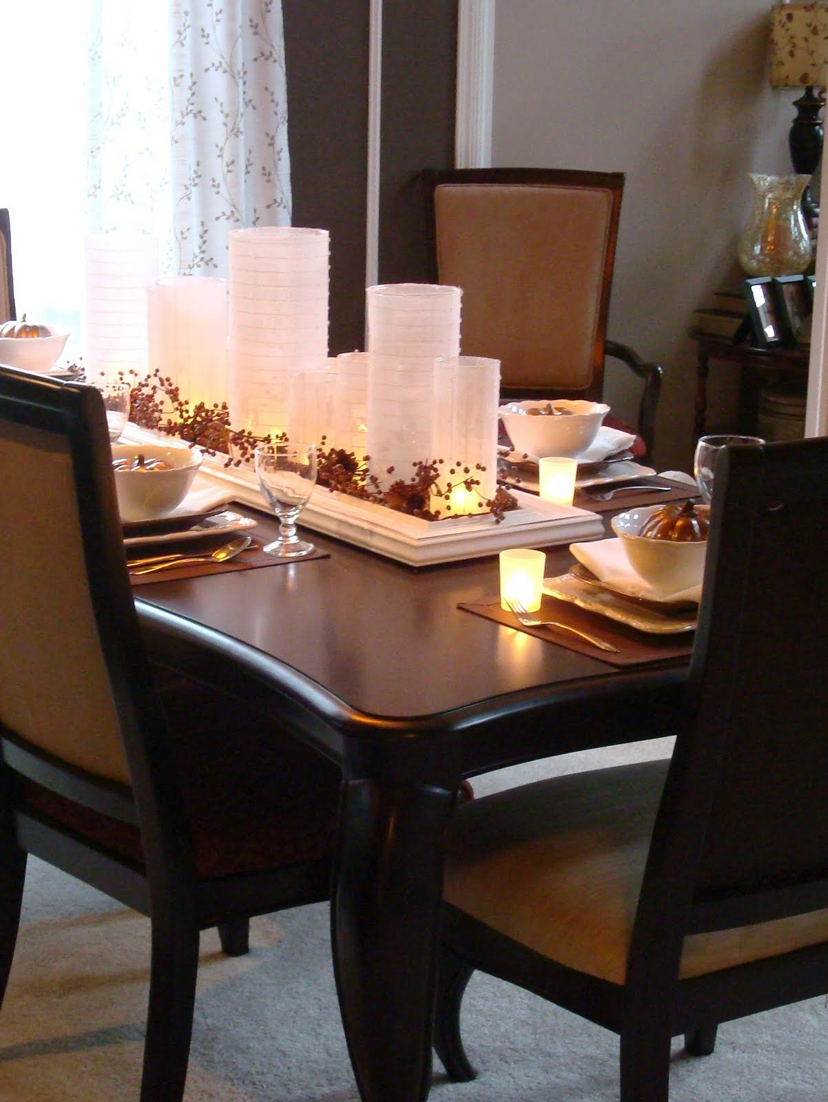 Photos Of Dining Table Centerpieces Novocom Top