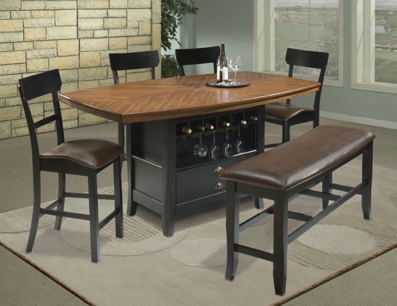 High Bench Table High Top Table Sets Homesfeed