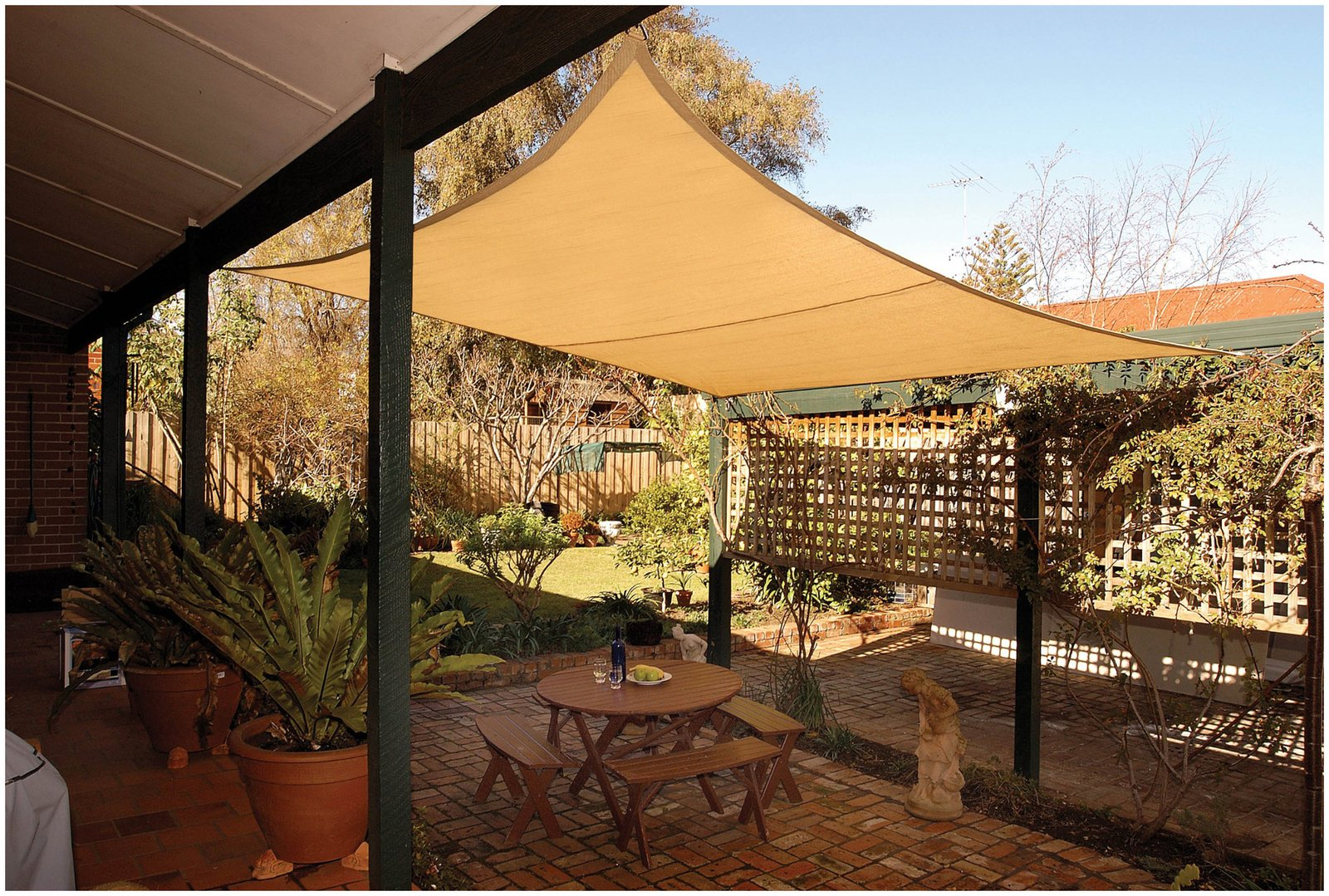 Diy Shade Sail Simple Practical And Recommended