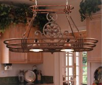 Pot Rack with Lights | HomesFeed