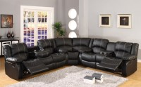 Black Leather Reclining Sectional Products | HomesFeed