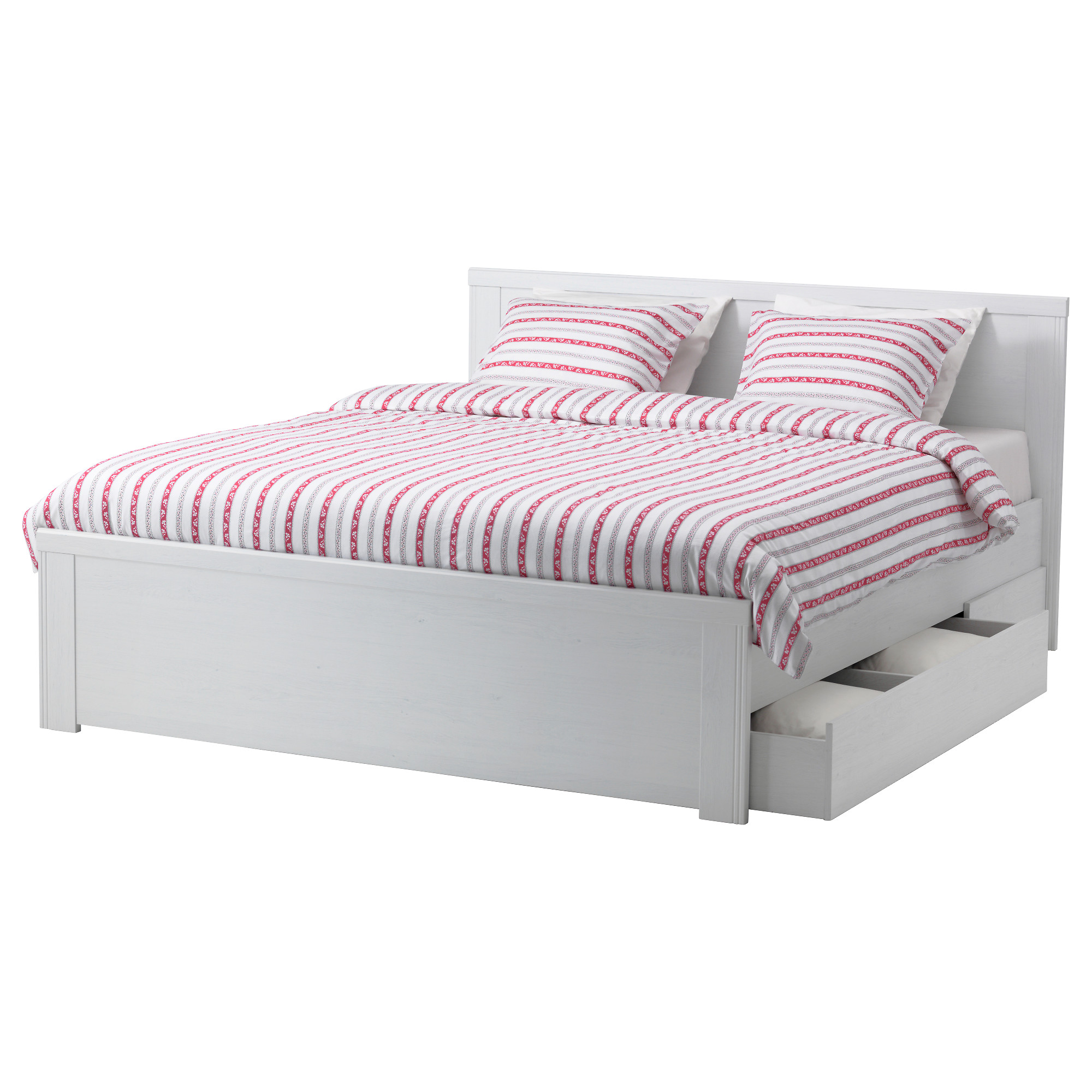 Tweepersoonsbed Frame Ikea Bed Frame With Drawers Homesfeed