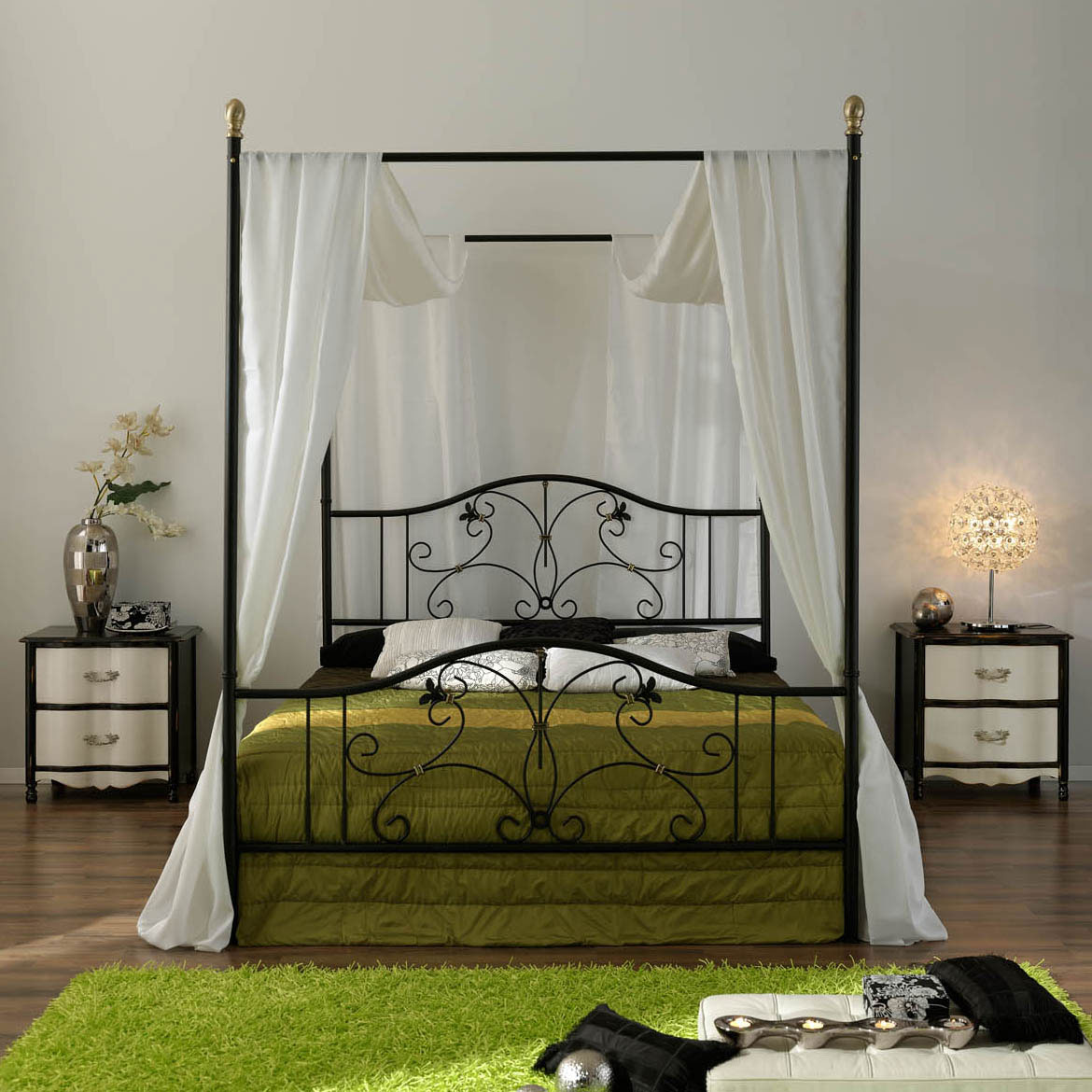 Canopy Bed Frame Iron Canopy Bed Frame Homesfeed