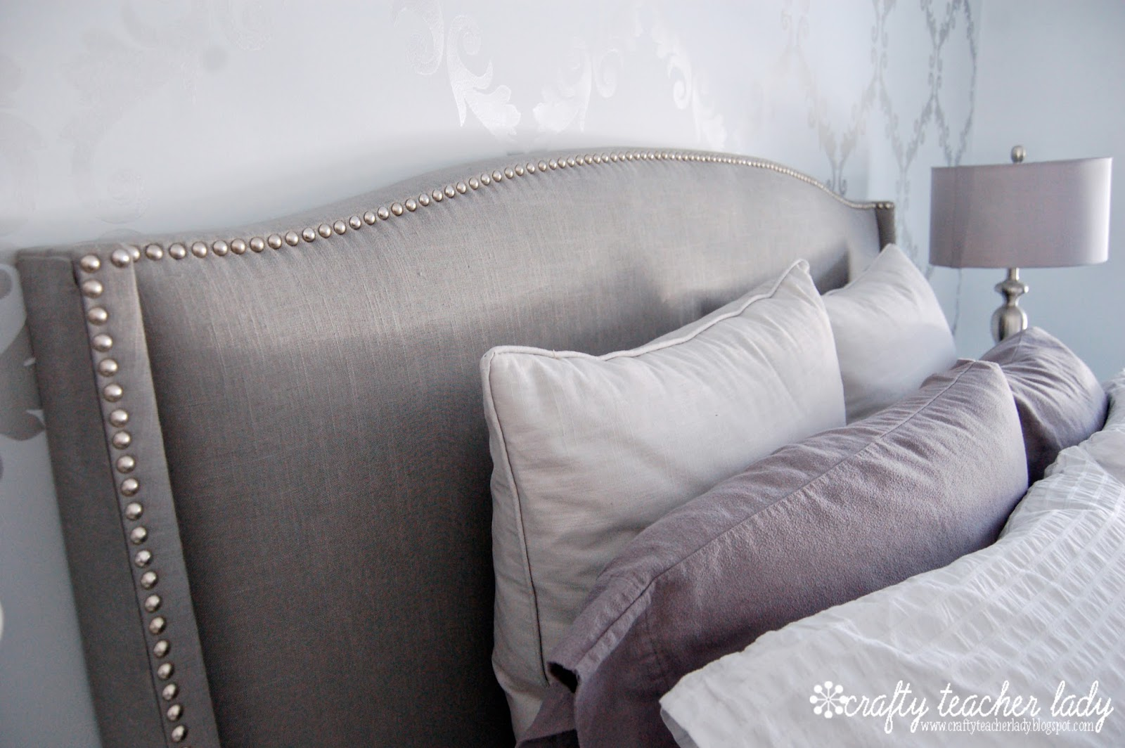 Making An Upholstered Headboard With Nailhead Trim Upholstered Headboard With Nailhead Trim Homesfeed
