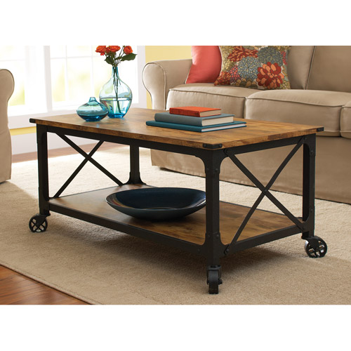 Coffee Table on Casters, Move It Anytime